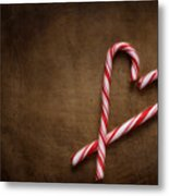 Still Life With Candy Canes Metal Print