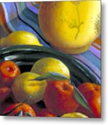 Still Life With Citrus Metal Print