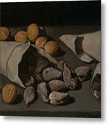 Still Life With Dried Fruit Metal Print