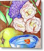 Still Life With Fish Metal Print by Loretta Nash