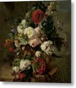 Still Life With Flowers, 1789 Metal Print
