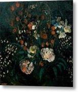Still Life With Flowers Boris Grigoriev Metal Print