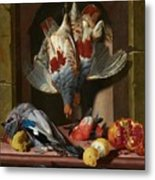 Still Life With Game Metal Print