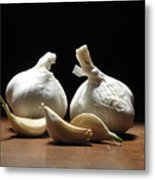 Still Life With Garlic Metal Print