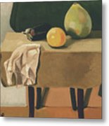 Still-life With Grapefruit Metal Print