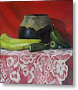 Still Life With Green Peppers Metal Print