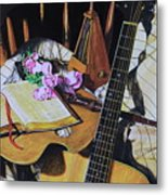 Still Life With Guitar Metal Print