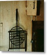 Still Life With Hearth Tools Metal Print