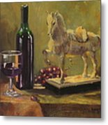 Still Life With Horse Metal Print