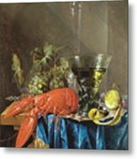 Still Life With Lobster 1655 Metal Print