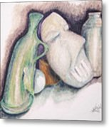 Still Life With Mask Metal Print