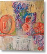 Still Life With Melon And Fig Metal Print