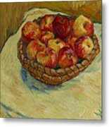 Still Life With Moravian Apples Metal Print