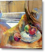 Still Life With Onions Metal Print
