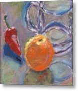 Still Life With Orange Metal Print