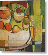 Still Life With Oranges Metal Print