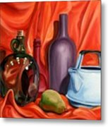 Still Life With Pear Metal Print