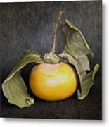 Still Life With Persimmon Metal Print
