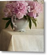 Still Life With Pink Peonies Metal Print