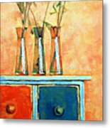 Still Life With Poppies Metal Print