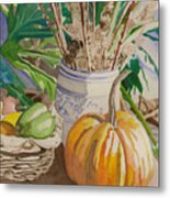Still Life With Pumpkin Metal Print