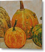 Still Life With Pumpkins Metal Print