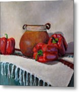 Still Life With Red Peppers Metal Print