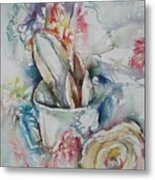 Still Life With Rose Metal Print