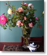 Still Life With Roses Metal Print