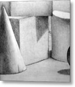 Still Life With Shapes Metal Print