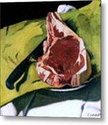 Still Life With Steak Metal Print