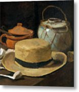 Still Life With Straw Hat, By Vincent Van Gogh, 1881, Kroller-mu Metal Print
