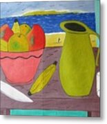 Still Life With Sunsed Metal Print