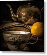 Still Life With Tea Cup Metal Print
