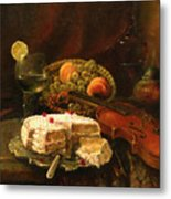 Still-life With The Violin Metal Print by Tigran Ghulyan
