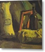 Still Life With Two Bags And Bottle Metal Print