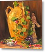Still Life With Urn Metal Print