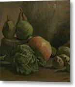 Still Life With Vegetables And Fruit Nuenen, Autumn 1884 Vincent Van Gogh 1853  1890 Metal Print