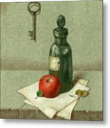 Still Life With Vial Metal Print