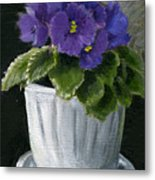 Still Life With Violet Metal Print