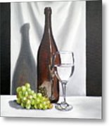 Still Life With White Wine Metal Print