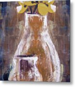 Still Life With Yellow Flowers Metal Print