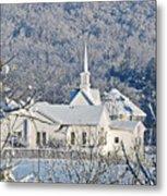 Still The Little White Church In Peoria Metal Print