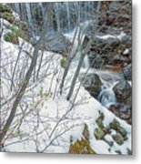 Still Under A Blanket Of Snow In Early May Metal Print