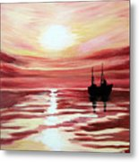 Still Waters Run Deep Metal Print