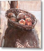 Stillife With Onions Metal Print