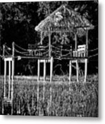 Stilt Dock Metal Print