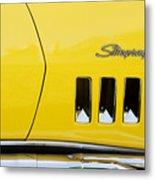 Stingray Yellow  Metal Print