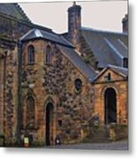 Stirling Castle Courtyard, Scotland Metal Print