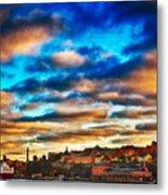 Stockholm In Bold Colors Metal Print